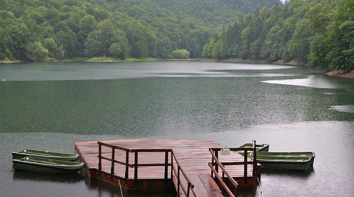 The biogradsko jezero in the Biogradska Gora national park.