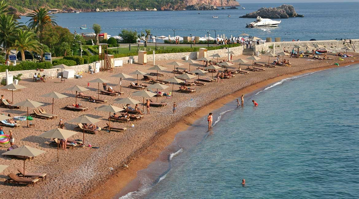 Beach of Budva.