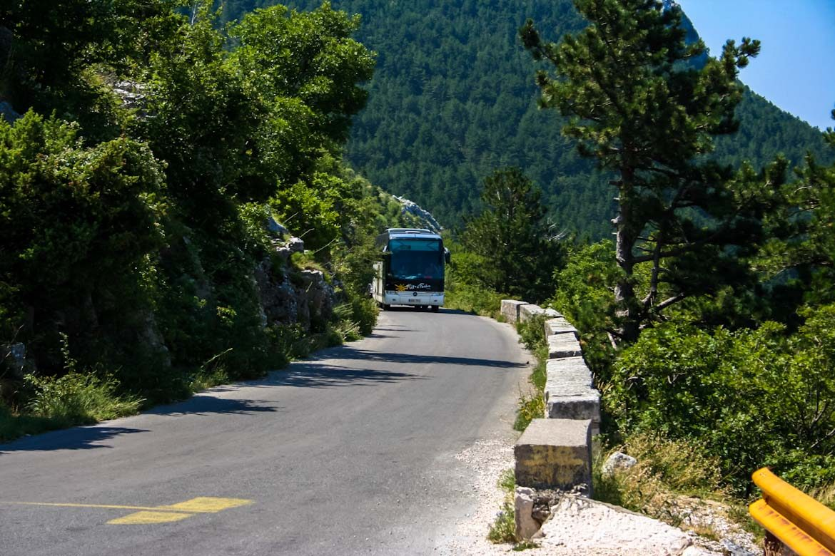 Bus tours in Montenegro.