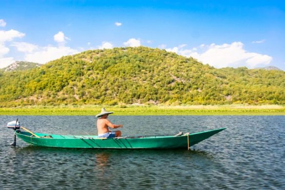 Fisherman on the Skadar Lake.
