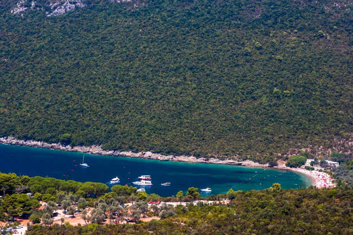Zanjic beach of the Herceg Novi riviera.