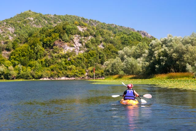 Kayaking on the Skadarsko Jezero.