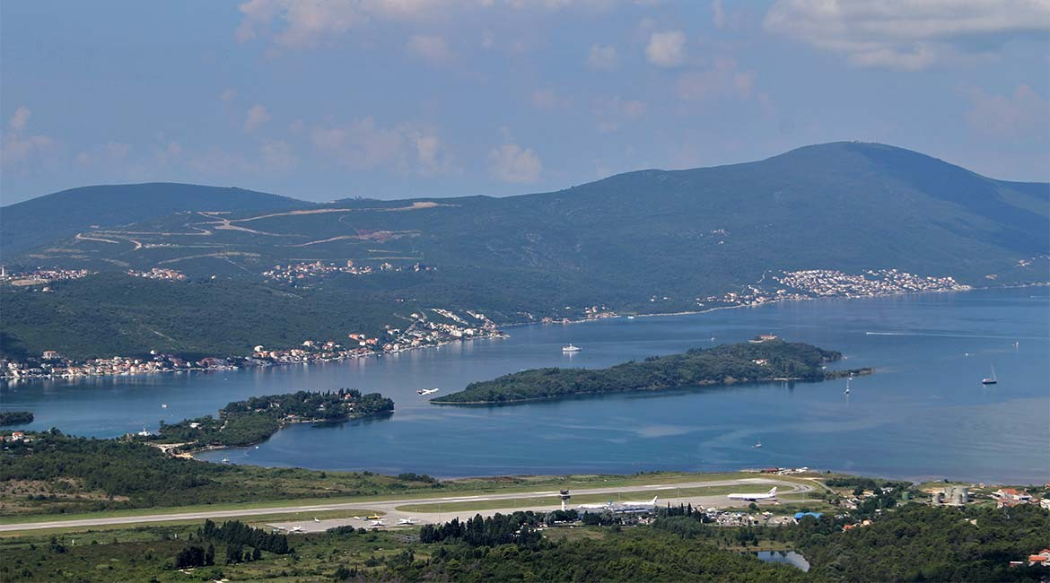 Lustica peninsula in the Boka Kotorska bay.