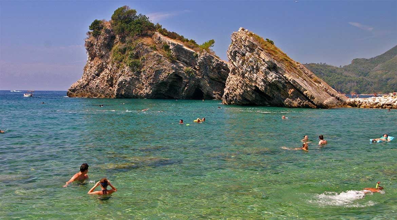 Beach in Montenegro.