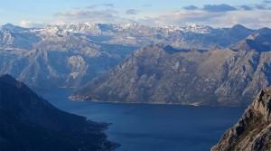 The Orjen mountain range.