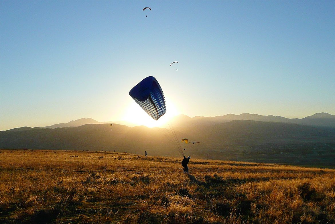 Paragliding in Montenegro.