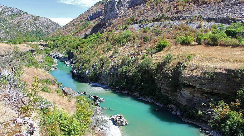 The Moraca river.