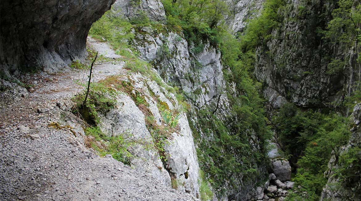 The Mrtvica Canyon in Montenegro.