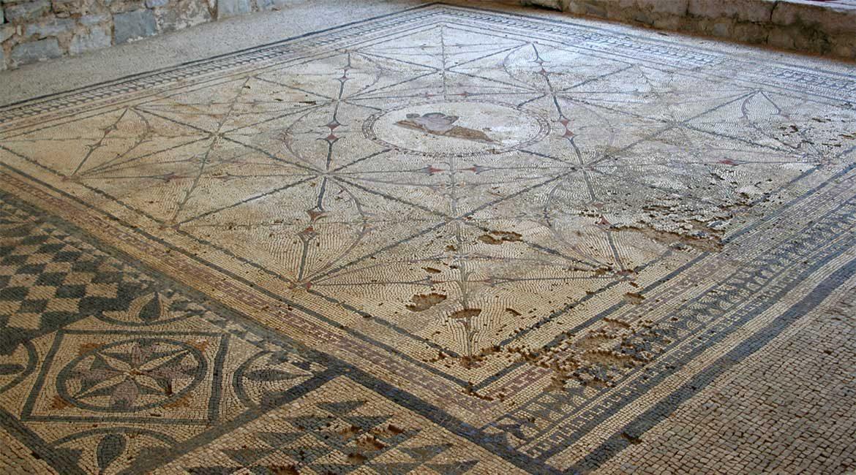 The rpman mosaic in Risan.