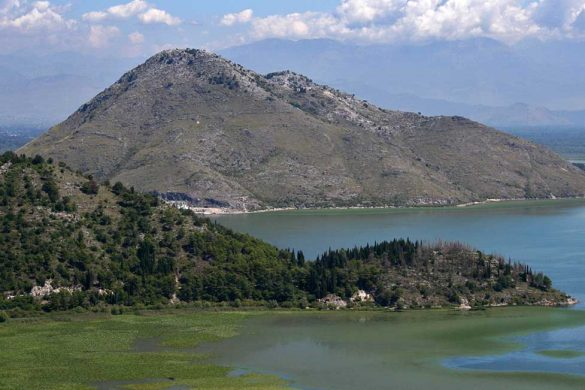 The Vranjina island in the Skadarsko Jezero.