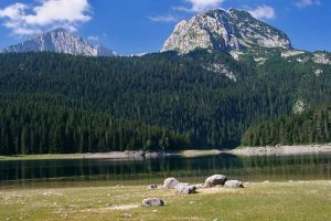 The crno jezero (Black lake) glacial lake.