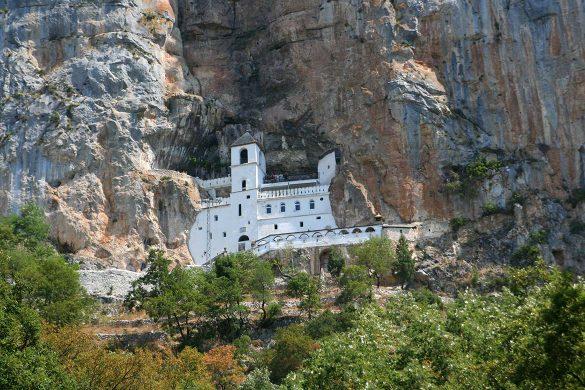 The ostrog monastery.
