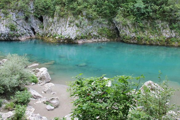 The Tara river in Montenegro.