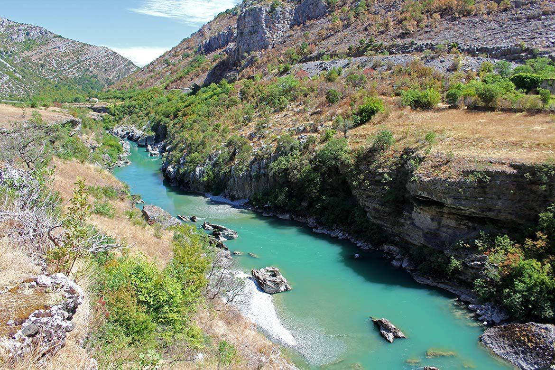 The moraca river in Montenegro.