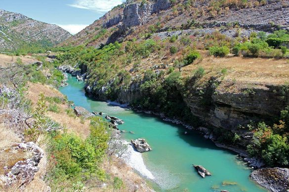 The moraca river in Montenegro.