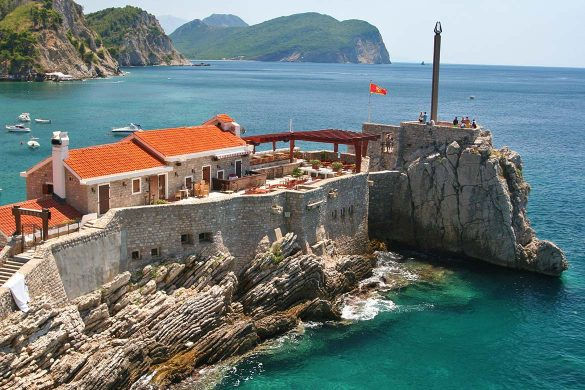 The town of Petrovac in Montenegro.