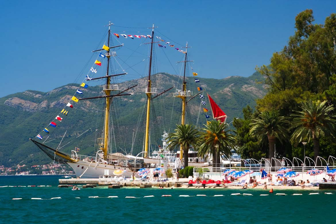 The city of Tivat in Montenegro.