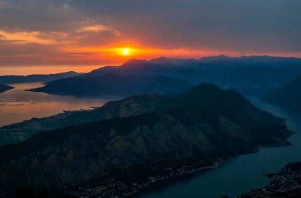 The mountain ridge of vrmac in Montenegro.