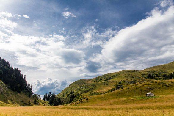 The bjelasica mountain range in Montenegro.