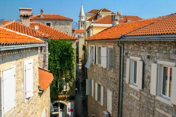 The city of Budva in Montenegro.