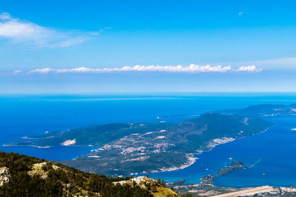 The Lustica peninsula in Montenegro.