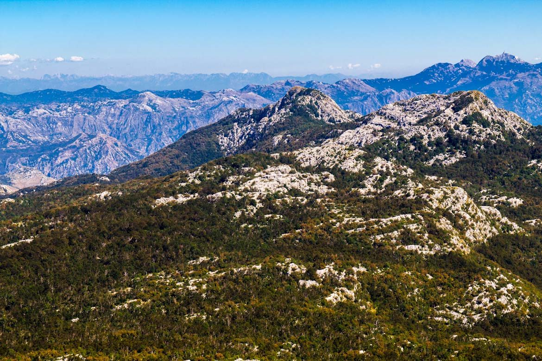 The Orjen mountain range in Montenegro.