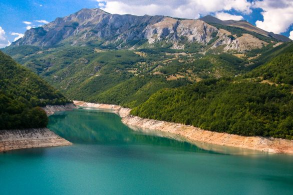 The Piva canyon in Montenegro.