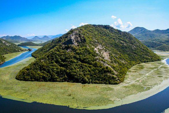 The rijeka crnojevica river in Montenegro.
