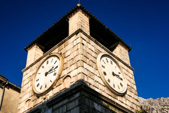 The clock tower of Kotor.