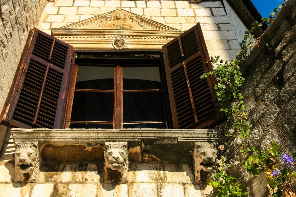 The drago palace in Kotor's old town.