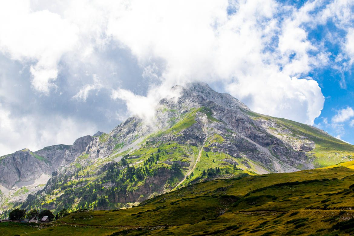 The komovi mountain range in Montenegro.