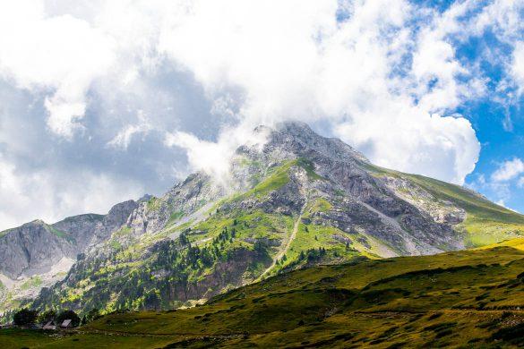 The komovi mountain range in Montenegro.