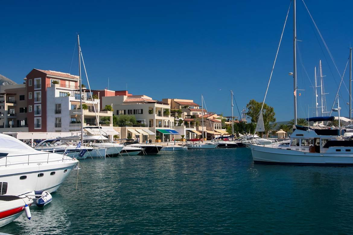 The Porto Montenegro marina in Tivat.