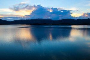 The Slansko Jezero lake in Montenegro.