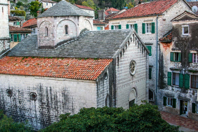 The sveti ozana church in the old town of Kotor.