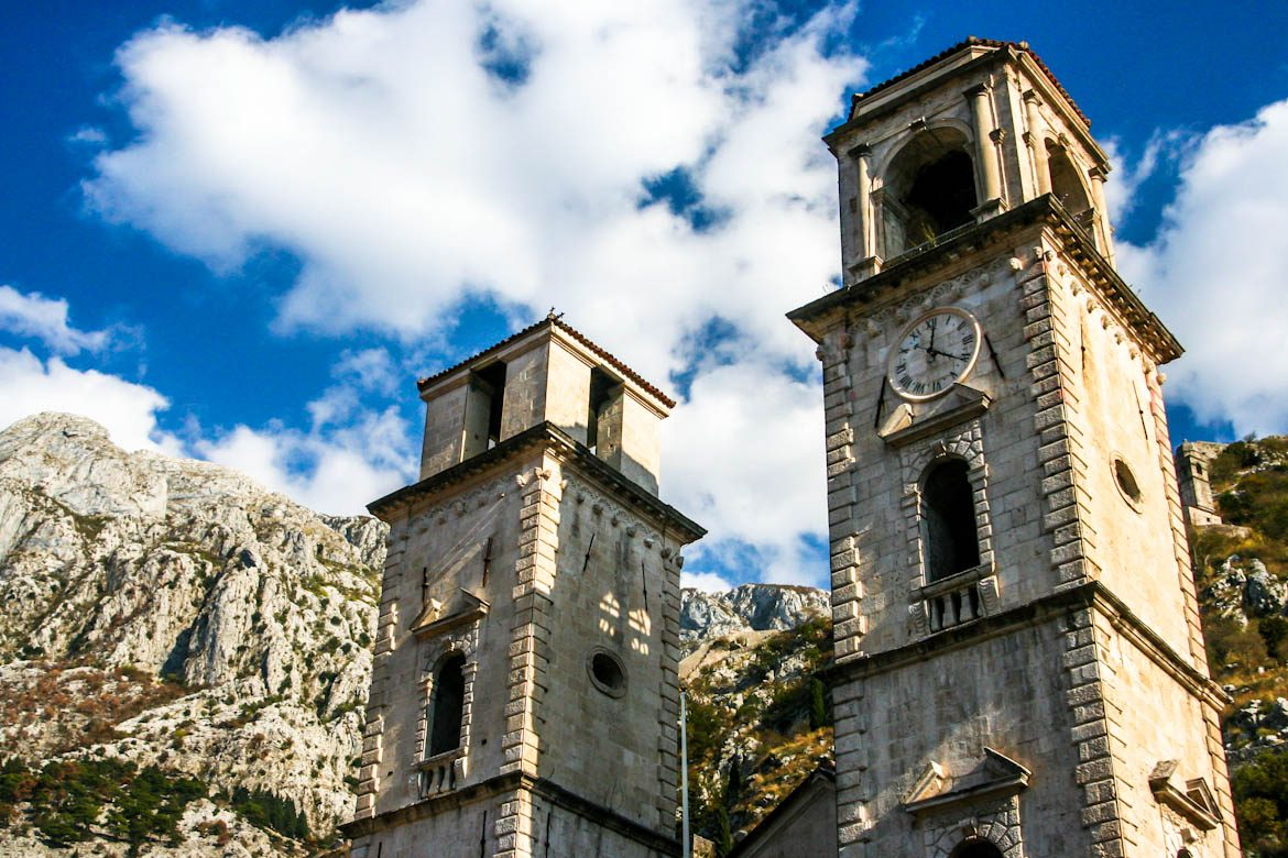 Sveti tryphon cathedral in Kotor´s old town.
