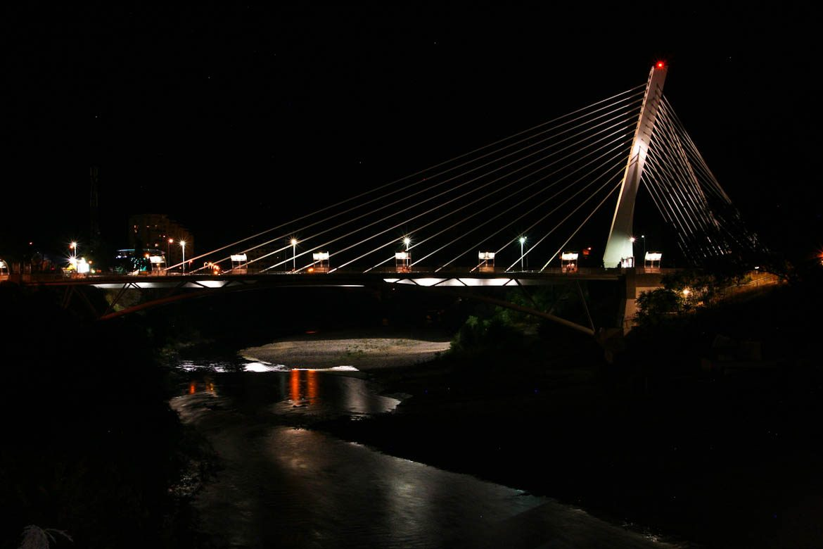 Millennium Bridge in Podgorica.