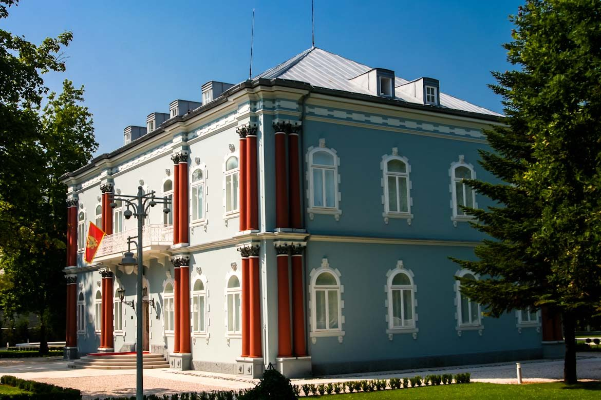 The plavi dvorac palace in Cetinje.