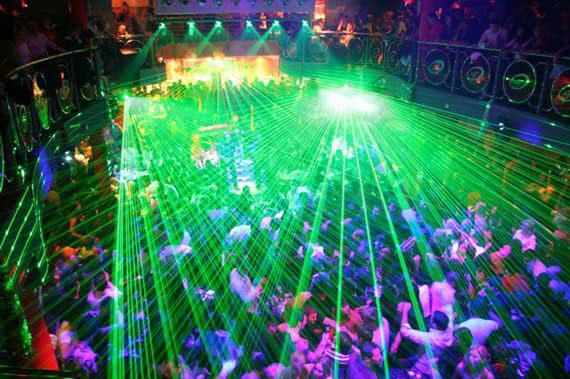 Trocadero discotheque in Budva.