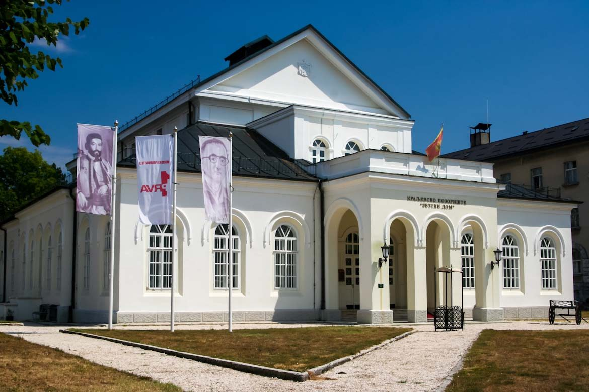 The Zetski Dom theater in Cetinje.