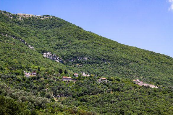The village of Gornja Lastva in the bay of Kotor.